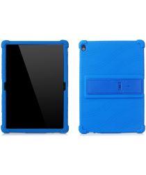 Lenovo Tab P10 Kindvriendelijke Hoes Met Kickstand Siliconen Blauw