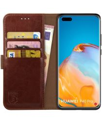 Rosso Element Huawei P40 Pro Hoesje Book Cover Bruin