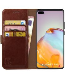 Rosso Element Huawei P40 Hoesje Book Cover Bruin
