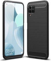 Huawei P40 Hoesje Geborsteld TPU Zwart