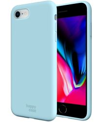 HappyCase iPhone SE 2020 Hoesje Siliconen Back Cover Licht Blauw