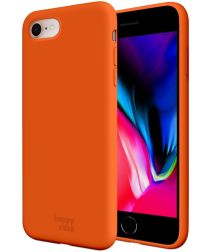 HappyCase iPhone SE 2020 Hoesje Siliconen Back Cover Oranje