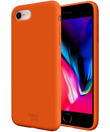 HappyCase iPhone SE 2020 Hoesje Siliconen Back Cover Oranje