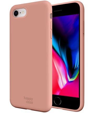 HappyCase iPhone SE 2020 Hoesje Siliconen Back Cover Pink Hoesjes