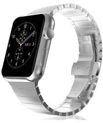 Apple Watch 44MM / 42MM Bandje Luxe Schakelband Roestvrij Staal Zilver