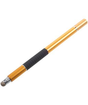 Universele Stylus Pen 3 Koppen voor Smartphone - Tablet – iPad Goud