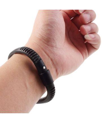 Universele Siliconen Capacitive Stylus Armband Zwart Stylus Pennen