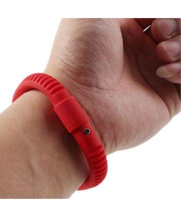 Universele Siliconen Capacitive Stylus Armband Rood