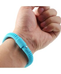 Universele Siliconen Capacitive Stylus Armband Blauw