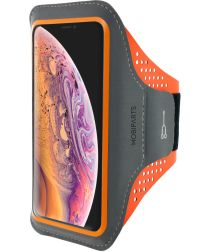 Mobiparts Comfort Fit Sport Armband Apple iPhone XS Max Oranje