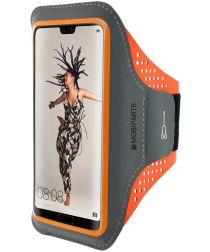 Mobiparts Comfort Fit Sport Armband Huawei P20 Sporthoesje Oranje