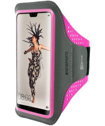 Mobiparts Comfort Fit Sport Armband Huawei P20 Sporthoesje Roze