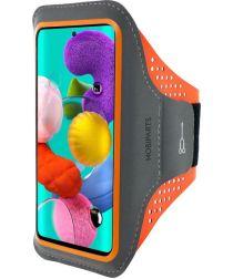 Mobiparts Comfort Fit Sport Armband Samsung Galaxy A51 Oranje