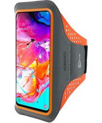 Mobiparts Comfort Fit Sport Armband Samsung Galaxy A70 Oranje