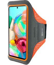 Mobiparts Comfort Fit Sport Armband Samsung Galaxy A71 Oranje