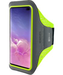 Mobiparts Comfort Fit Sport Armband Samsung Galaxy S10 Plus Groen
