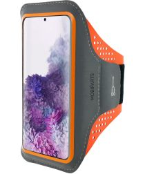 Mobiparts Comfort Fit Sport Armband Samsung Galaxy S20Plus Oranje