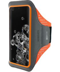 Mobiparts Comfort Fit SportArmband Samsung Galaxy S20Ultra Oranje