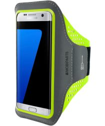 Mobiparts Comfort Fit Sport Armband Samsung Galaxy S7 Edge Groen