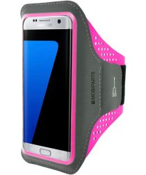 Mobiparts Comfort Fit Sport Armband Samsung Galaxy S7 Edge Roze