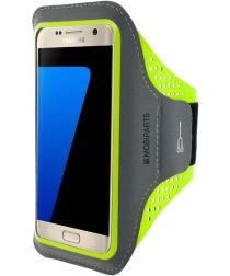 Mobiparts Comfort Fit Sport Armband Samsung Galaxy S7 Groen