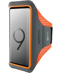 Mobiparts Comfort Fit Sport Armband Samsung Galaxy S9 Plus Oranje