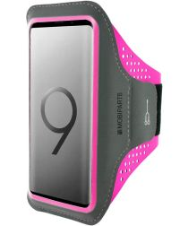 Mobiparts Comfort Fit Sport Armband Samsung Galaxy S9 Plus Roze