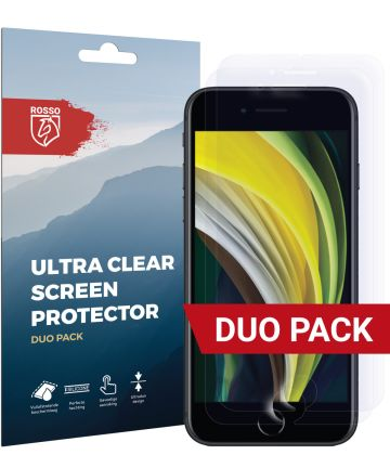 Rosso Apple iPhone SE (2020) Ultra Clear Screen Protector Duo Pack Screen Protectors