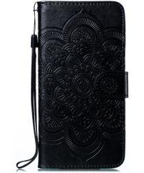Samsung Galaxy M21 Hoesje Portemonnee met Mandala Print Zwart