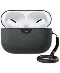MOUS Apple AirPods Pro Hoesje Hybride Airoshock Bescherming Zwart Leer
