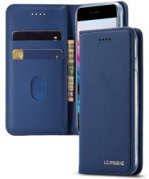 Apple iPhone SE 2020 Hoesje Portemonnee Stand Bookcase Kunstleer Blauw