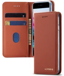 Apple iPhone SE 2020 Hoesje Portemonnee Stand Bookcase Kunstleer Bruin