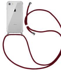 Apple iPhone SE (2020) / 8 Hoesje Hybride Back Cover met Koord Rood