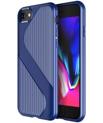 Apple iPhone SE 20202 Hoesje S-Line Back Cover TPU Blauw