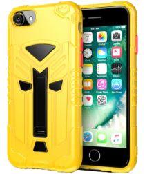 Apple iPhone SE 2020 Schokbestendig Hoesje Hybride met Standaard Geel