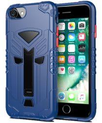Apple iPhone SE 2020 Schokbestendig Hoesje Hybride met Standaard Blauw