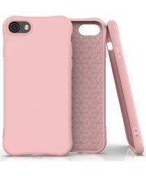 Apple iPhone SE (2020) Hoesje Schokbestendig TPU Flexibel Matte Roze