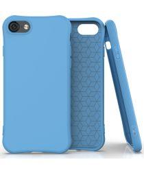 Apple iPhone SE (2020) Hoesje Schokbestendig TPU Flexibel Matte Blauw