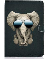 Samsung Galaxy Tab S6 Lite Portemonnee Hoesje met Olifant Print