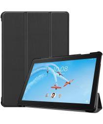 Lenovo Tab P10 Hoesje Tri-Fold Book Case met Standaard Zwart
