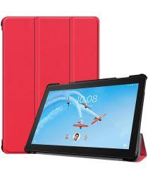 Lenovo Tab P10 Hoesje Tri-Fold Book Case met Standaard Rood