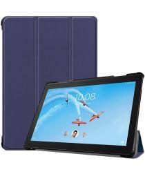 Lenovo Tab P10 Hoesje Tri-Fold Book Case met Standaard DonkerBlauw