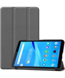 Lenovo Tab M7 Hoesje Tri-Fold Book Case met Standaard Grijs