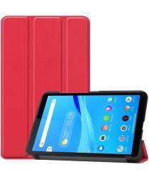 Lenovo Tab M7 Hoesje Tri-Fold Book Case met Standaard Rood