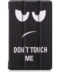Lenovo Tab M8 Hoesje Tri-Fold Book Case met Do Not Touch Me Print