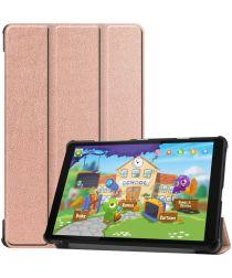 Lenovo Tab M8 Hoesje Tri-Fold Book Case met Standaard Roze Goud