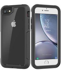 Vivid Apple iPhone 7/ 8 / SE (2020) Protectie Hoesje Transparant Zwart