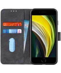 Apple iPhone 7/8/SE 2020 Hoesje Portemonnee Vintage Zwart Kunstleder