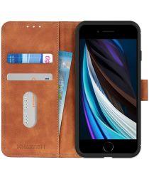 Apple iPhone 7/8/SE 2020 Hoesje Portemonnee Vintage Bruin Kunstleder