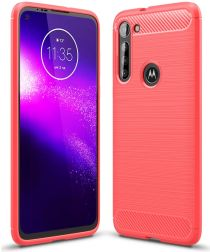 Motorola Moto G8 Power Hoesje Geborsteld TPU Rood